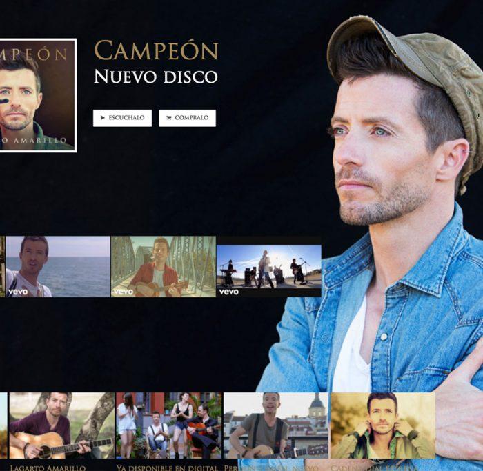 Web de Lagarto Amarillo