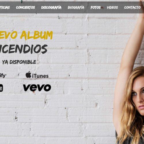 Web de la cantante Conchita
