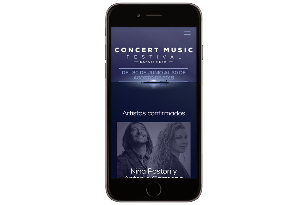 diseño de la web de concert music festival