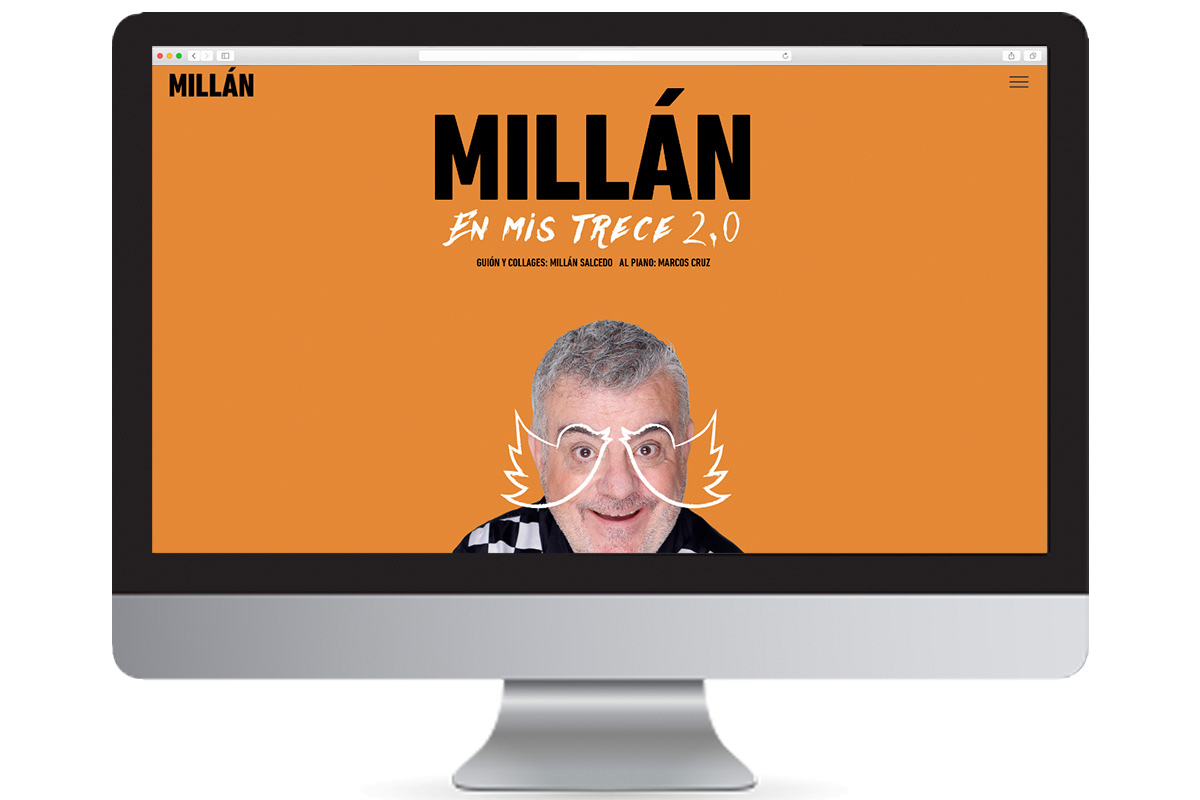 Diseño de la web de Millan Salcedo