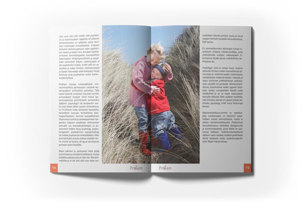 Diseño de folleto para Profiam